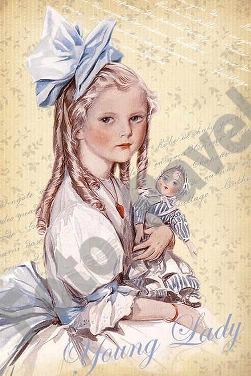 Vintage motiv - malá dáma2