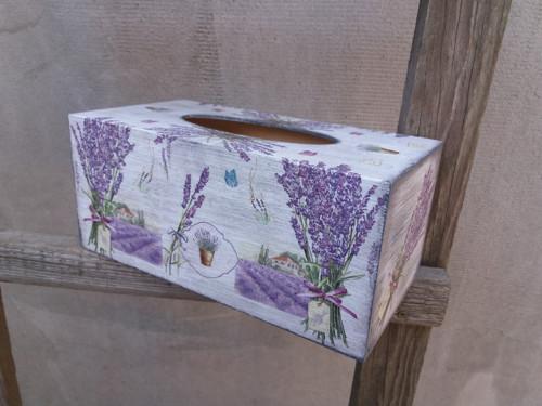 Krabička na kapesníčky Levandulová 200 ks