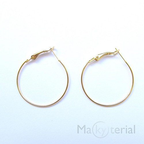 Kroužky se zapínáním - 35 mm- zlaté