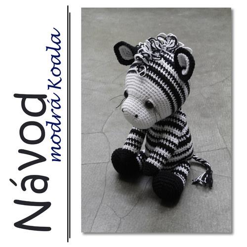 Háčkovaná zebra Matty - návod