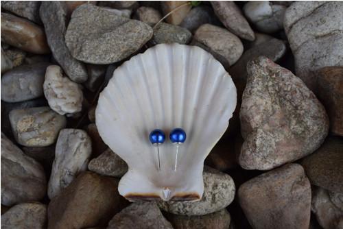 Elegantní náušnice z modrých perel