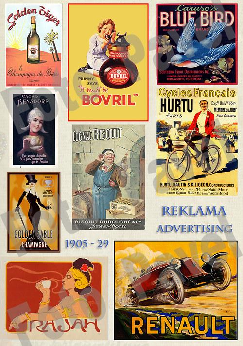 Vintage reklama - zboží, výrobky1