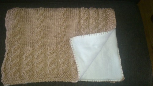 Pletená deka podšitá