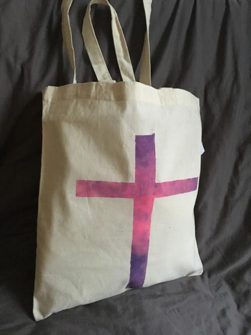 """Malovaná taška ,, kříž \"""""""