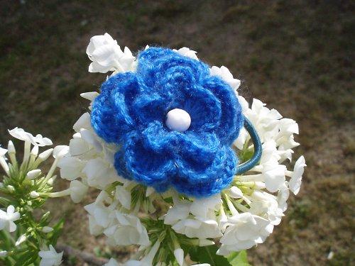 Gumička - Květinka do vlásků