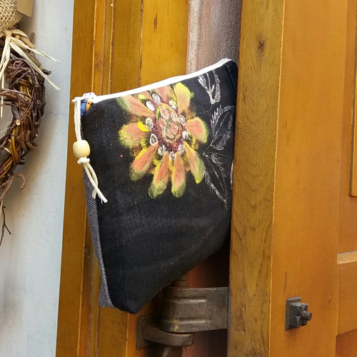 Džínová malovaná kapsa