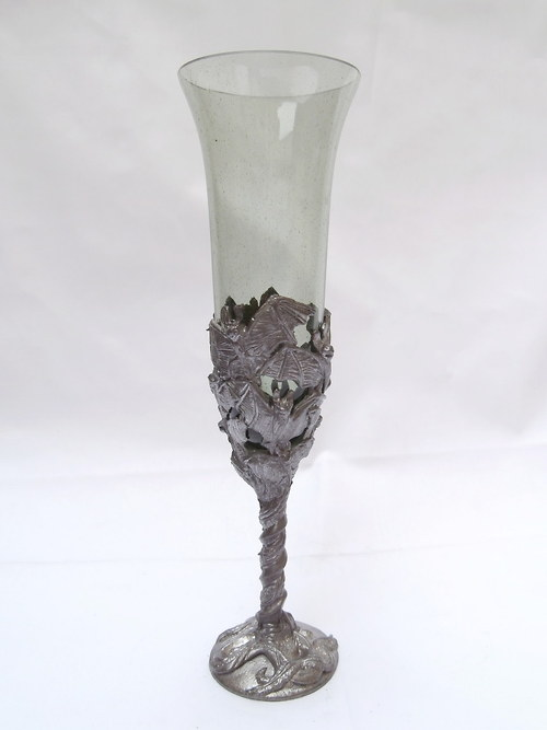 sklenice šampuska - netopýři