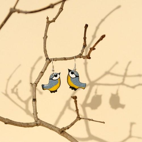 Náušnice - ptáček (2)