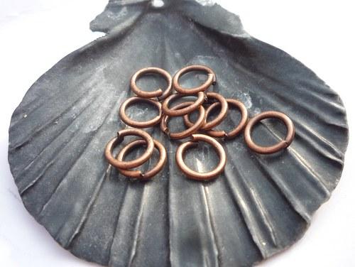 měděný  kroužek 50 ks, 6 mm
