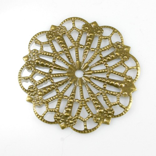 Filigrán - kulatý ornament bronz, 42 mm