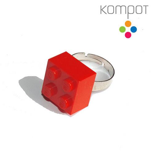 LEGO PRSTEN :: červený