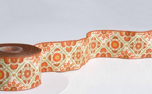 Stuha Buchara oranžová