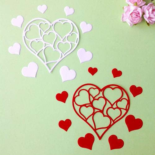 Srdíčka v srdci- 2 sady ,barva dle přání (SRD 15)