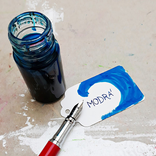 Inkoust - modrá