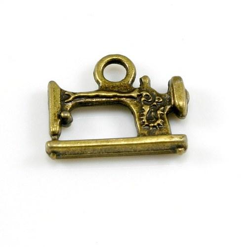 Přívěsek - šicí stroj 2, bronzový