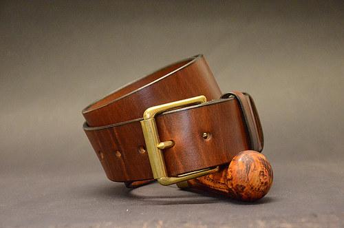Opasek Brown Brass