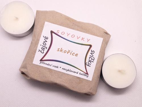 Sójové čajové svíčky - Cappuccino, 4 ks