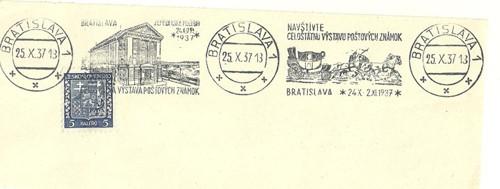 Z historie mezinárodní výstava známek 1937
