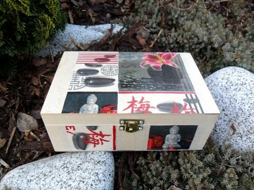 """Krabička na čaj \""""Asia style s květy\"""""""