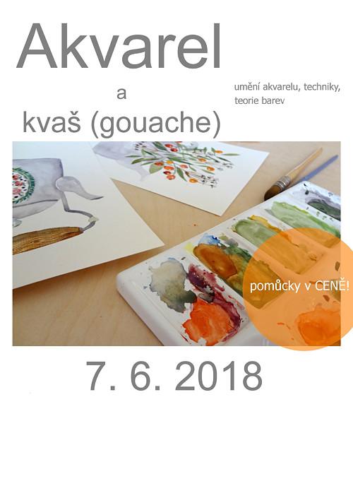 Akvarel a kvaš, kurz Praha 7.6.