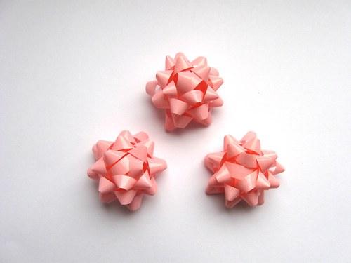 Mašlička - růžová světlá 3ks (4cm)