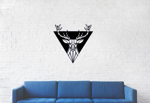 Ocelový obraz Jelen-Deer