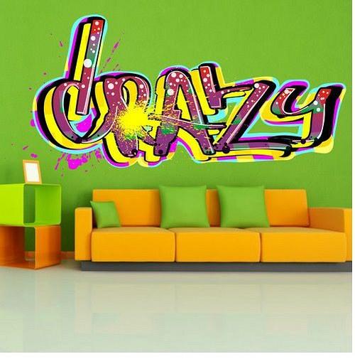Farebná nálepka 2488f Crazy
