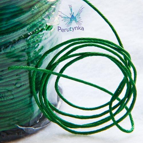 Voskovaná šňůrka, zelená, 1mm, délka 5m