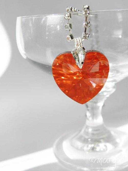 Srdce z lásky - náhrdelník Swarovski