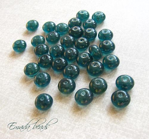 Rondelky, smaragdově zelená