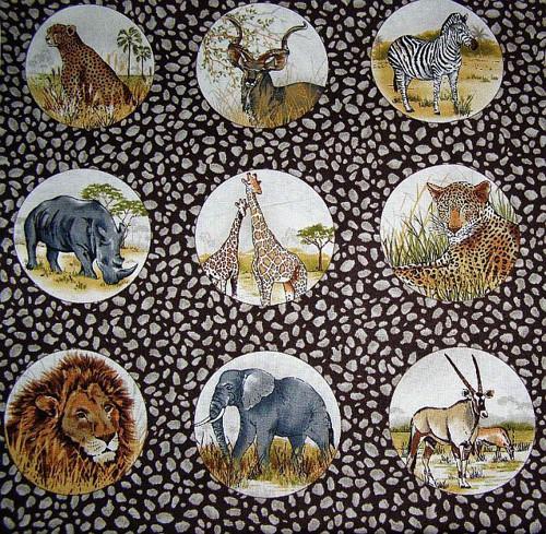 Africká zvířata II.- panel
