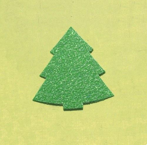 Široký stromeček (menší) - třpytivý