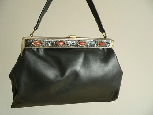 Koženková luxusní vintage kabelka 74