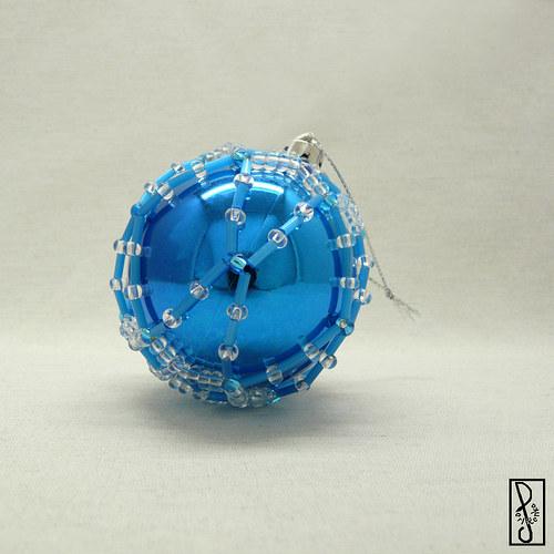 Vánoční koule modrá 2