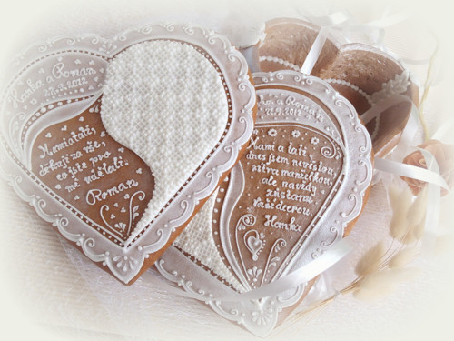 Svatební dóza srdcová