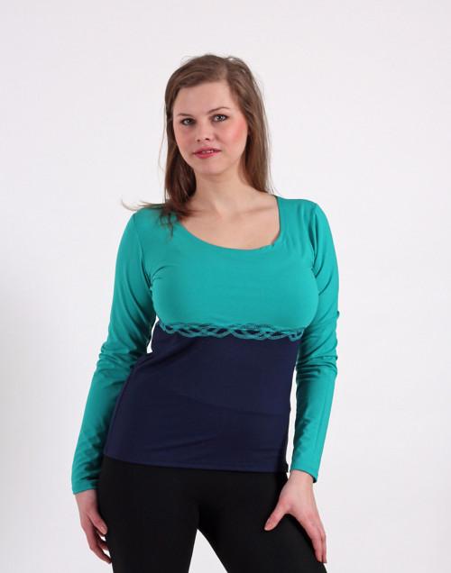 Tyrkysovo tmavě modré tričko vel. M