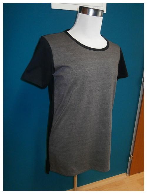 Tričko v hnědo - černé / L
