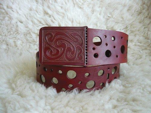 Kožený pásek Emental
