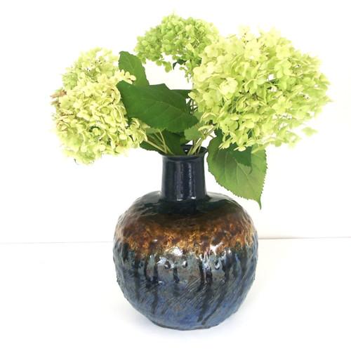 Modromedová kulatá - keramická váza