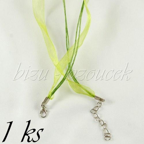 Světlejší zelený náhrdelník - 1ks