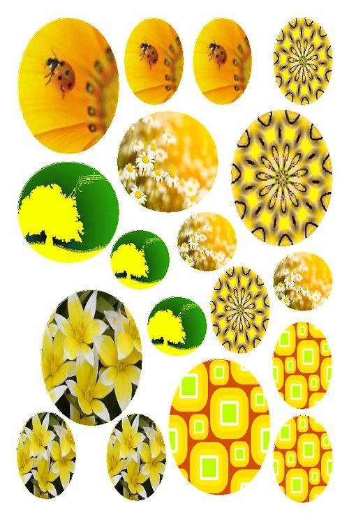 mix žlutých motivů