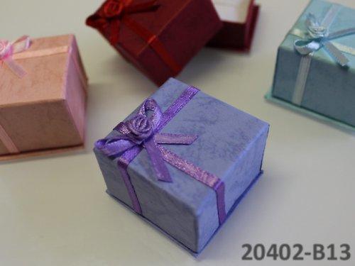 20402-B13 Dárková krabička na prstýnek, FIALKOVÁ