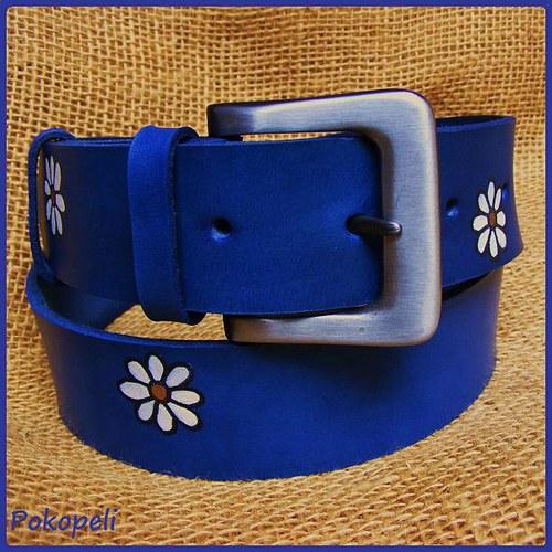 Kopretinový modrý 4cm