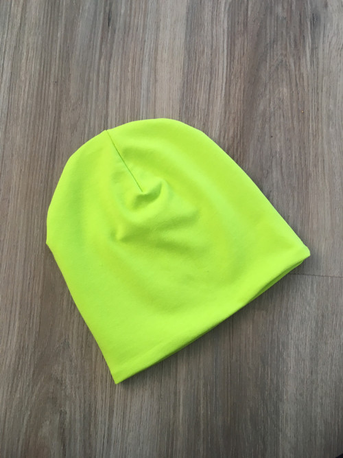 Dětská čepička - neonově zelená
