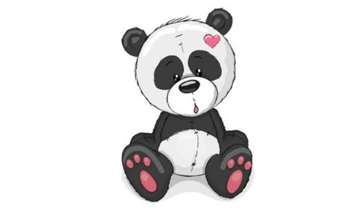 Panel - teplákovina  panda