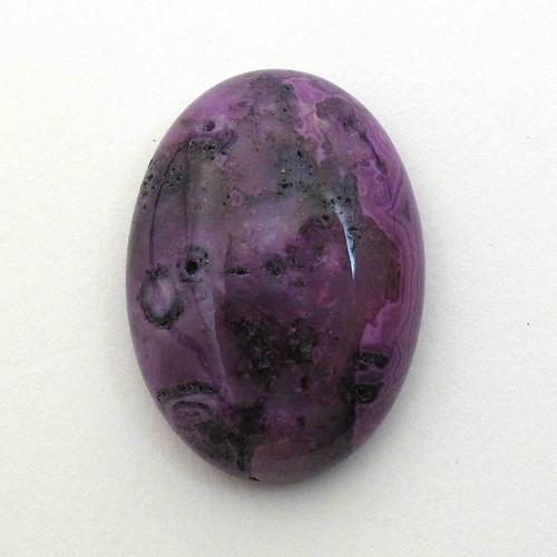 Kabošon fialový krajkový achát ovál 25mm