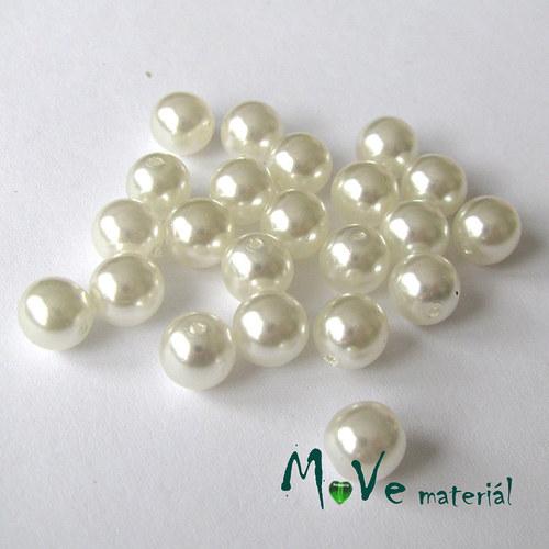 České voskové perle perleťové 7mm, 22 ks
