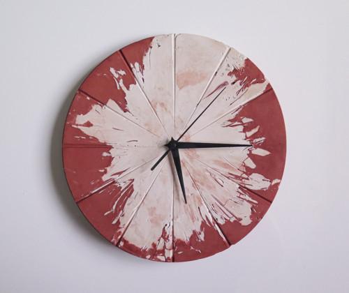 Ručne vyrobené nástenné hodiny – Terracotta explos