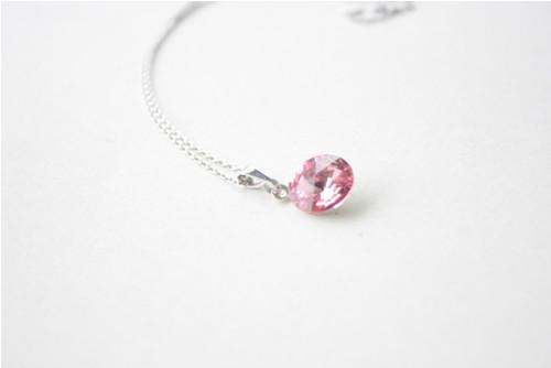 Růžový náhrdelník Swarovski