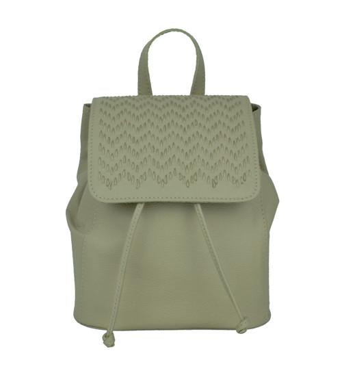 Kožený ručne vyšívaný ruksak v bežovej farbe